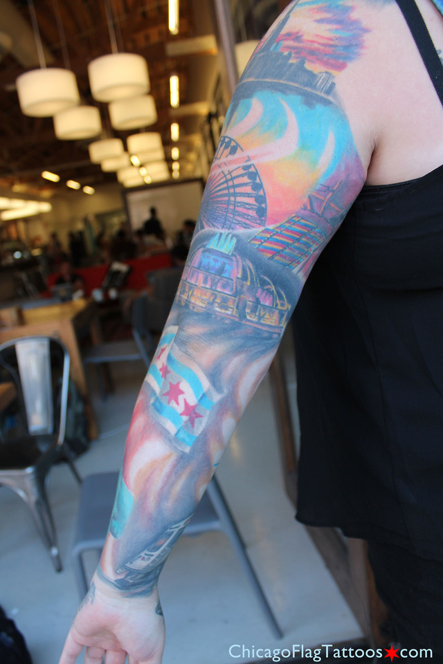 Kayla - tattoo - Buckingham Fountain