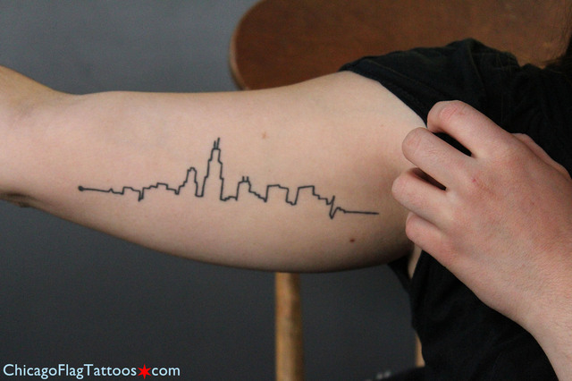 Cassie Brucci Chicago skyline tattoo