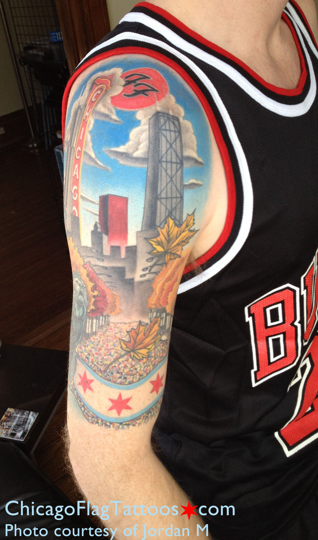 Jordan M Chicago tattoo