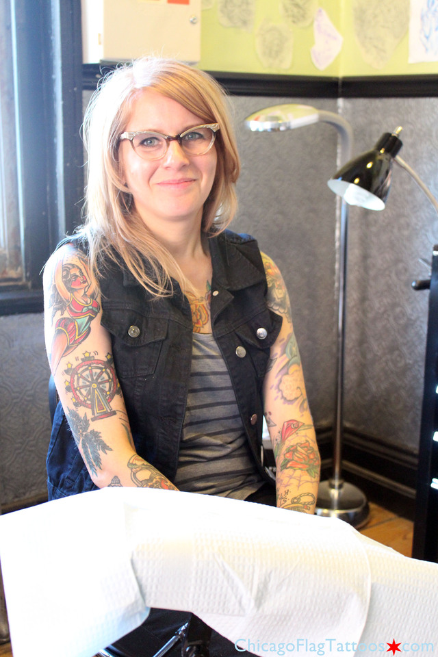 Jen Trok Chicago flag tattoo