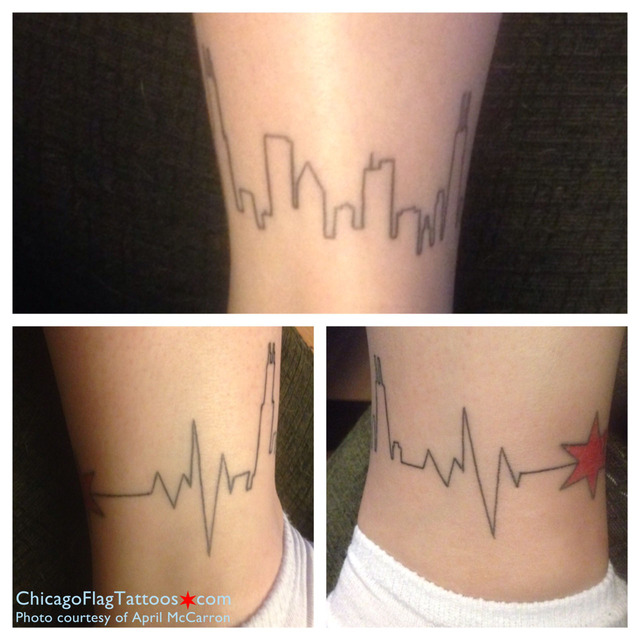 April McCarron Chicago skyline and star tattoo