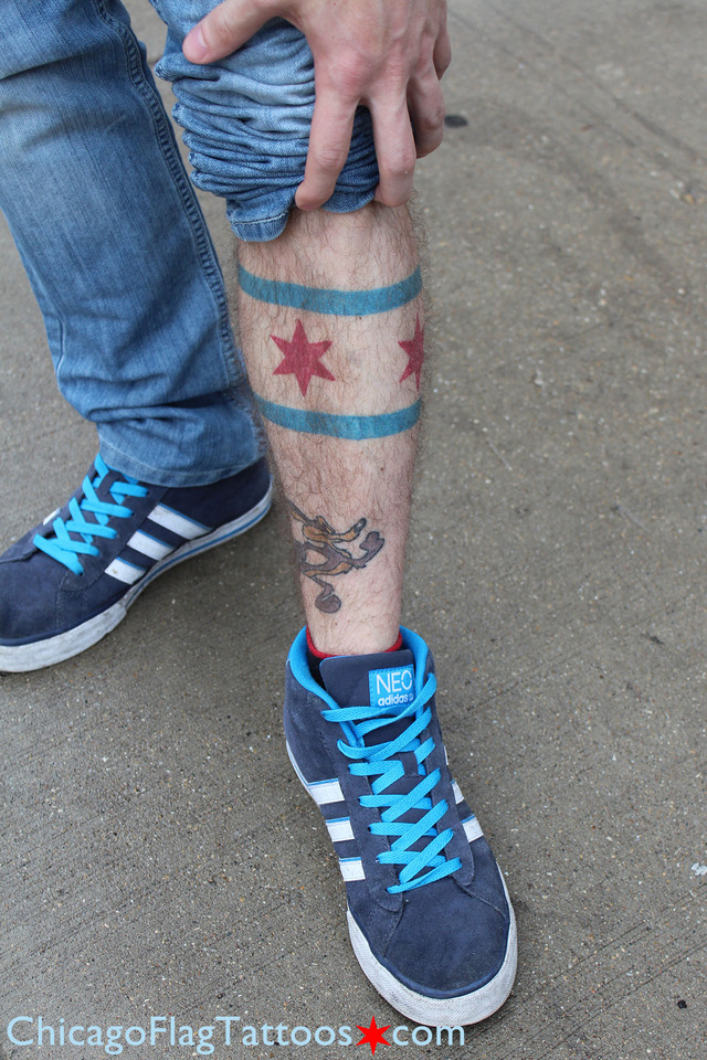 Joe Cocco - Chicago Flag tattoo