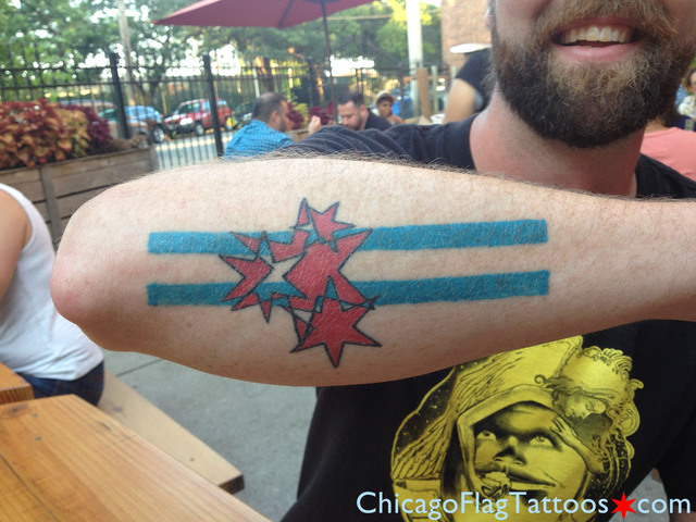 John Chicago Flag Tattoo