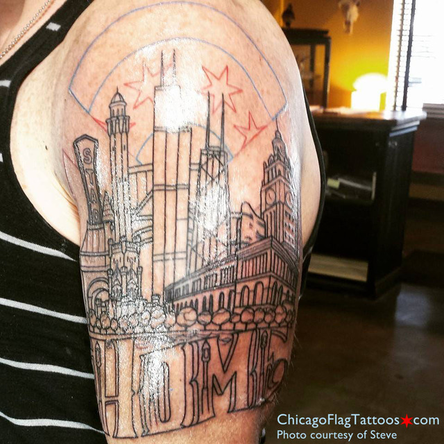 Steve Chicago Tattoo Linework