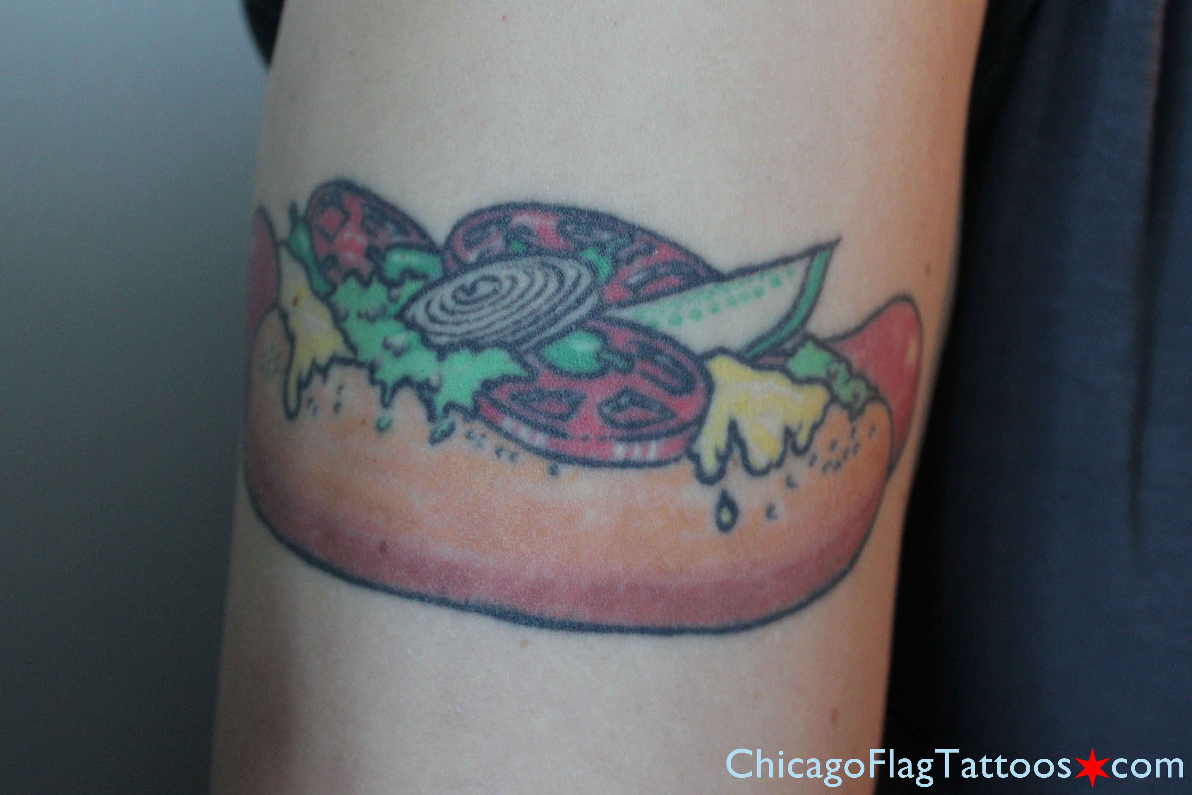 http://chicagoflagtattoos.com/img/zoelle_fishman_chicago_hotdog_tattoo.jpg